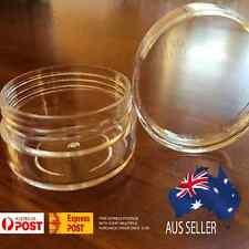 50X 10g Clear Lip Balm Small Screw Top Sample Cosmetic Jars Container OZ Seller