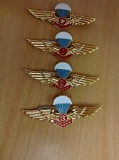 Full set 4 Vietnam army pin badge Parachute for soldier, officer