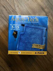 AQUA-TECH 6-PACK 5-15 FILTER CARTRIDGE FISH AQUARIUM PREMIUM Activated Carbon HQ