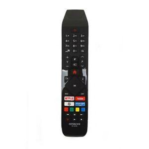 Télécommande Hitachi Rc43141 Véritable Télécommande Pour Tv Avec Netflix Youtube