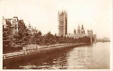 uk4081 house of parliament and victoria gardens london real photo uk