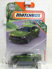 2019 Matchbox '18 Dodge Charger Dark Green - X268
