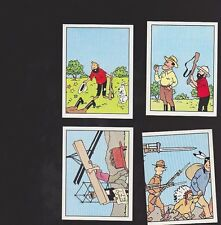 Herge Tintin Panini 1989 autocollants 155 156 157 158