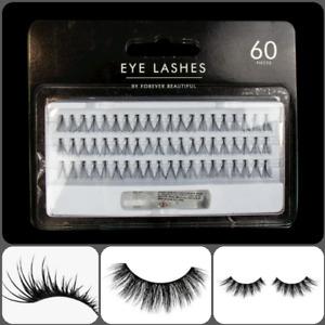 60 X Individual Eyelashes Knotted Eyelash Extensions Flare Cluster False Lashes