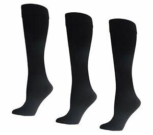 Linea Body Ultra Warm Fleece Lined Trouser Socks - 3 Pack BLACK One Size NEW