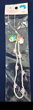 Vintage Sanrio LITTLE TWIN STARS Kiki & Lala CELL Phome CHARMS w Bead Strap NEW