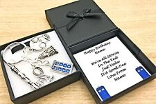 DR WHO GIFT.  KEYRING. WE'RE ALL STORIES IN THE END. PERSONALISED BOX. BIRTHDAY