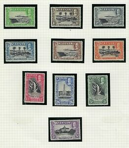 St Lucia 1936 Full Set w/ Perf Varieties SG 113 - 124 MNH VERY FINE MNH