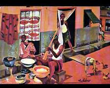 ABIDJAN (COTE D'IVOIRE) PETITS METIERS illustré par Christiane ACHALME en 1979