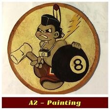 WW2 Hand Painted 8th Photo Recon Sqd Leather Patch A2 G1 Leather Flying Jacket