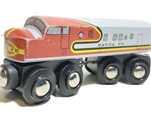 BRIO  Wooden Train Santa Fe Engine  - Heritage Series Fits BRIO & Thomas