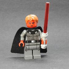 Custom - Red Female Inquisitor - Star Wars minifigures on lego bricks