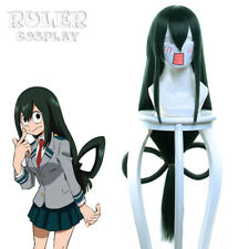 My Hero Academia Baku no Hero Asui Tsuyu Dark Green Long Straight Cosplay Wigs