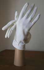 VINTAGE MILLINGTON 1950s IVORY WRIST LENGTH GLOVES RUCHED BOW DETAIL WEDDING