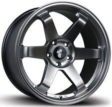 "Avid.1 Wheels AV06 17X8 Rims 5x114.3 +35 Hyper Black Te37 Style Volk 17"" Rims (4"