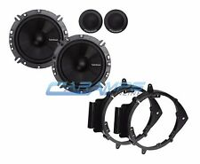 "NEW ROCKFORD FOSGATE 6.75"" CAR TRUCK STEREO SPEAKERS W/ DOOR MOUNTING BRACKETS"