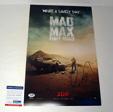 GEORGE MILLER DIRECTOR MAD MAX SIGNED AUTOGRAPH MOVIE POSTER PSA/DNA COA #3