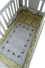 BRAND NEW YELLOW BUMBLE BEE THEME 5 PIECE BABY BEDDING COT SET - RRP$139.95