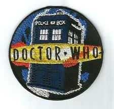 DOCTOR DR WHO ** The Tardis TV Movie Sci-Fi Space  Quality Iron On Patch Badge.