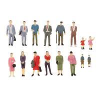 16x 1:42th Figures Character Diorama Model Doll Miniature Layout Scene Decor