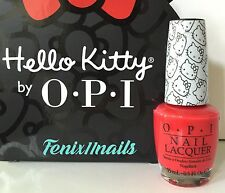 OPI HELLO KITTY NL H89 5 APPLES TALL apple red nail lacquer polish color RARE
