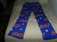 BUDWEISER MEN'S PAJAMA PANTS BLUE RED SIZE LARGE