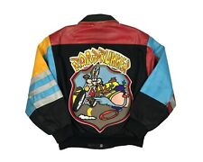 Vintage Roadrunner Wile E. Coyote Jeff Hamilton Leather Jacket 90s Looney Tunes