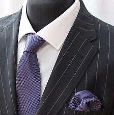 Tie Neck tie with Handkerchief Purple