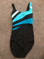 M&S Black & Blue  Swimming Costume Size 8 Long Bnwt Free P&p