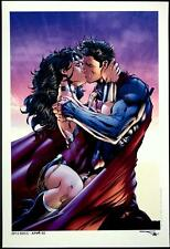 JIM LEE & ALEX SINCLAIR - SUPERMAN & WONDER WOMAN KISS LE ART PRINT #AP04 of 5