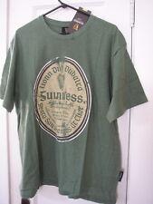Guinness Gaelic Irish Language Label Green Men's T Shirt,  Distressed