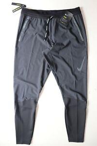 NIKE SWIFT FLEX MEN RUNNING TAPERED SLIM FIT PANTS TROUSERS BLACK BV4809-010 M L