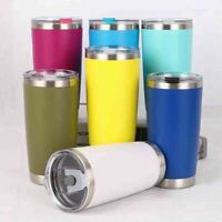 600ML 20oz Stainless Steel Vacuum Tumbler Insulated Travel Coffee Mug Cup Flask