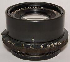 240mm (24cm) Apo-Tessar f/9 Carl Zeiss Jena, large format lens, pre-war 1941