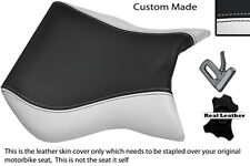 Blanco Y Negro Custom encaja Cagiva Mito 125 95-07 Frontal De Cuero Funda De Asiento