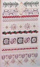 SNOWFIRE CHRISTMAS Sampler Cross Stitch Embroidery Leaflet
