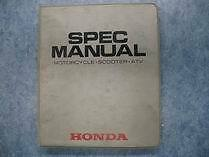 Honda 88-91 Specs Manual Atv Motorcycle Scooter Shop