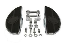 Chrome Moon Floorboards for Male Foot Peg Mount Harley Softail Dyna Sportster