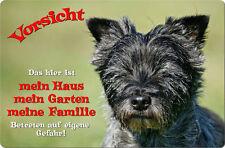 CAIRN Terrier - A4 Metall Warnschild Hundeschild SCHILD Türschild - CRT 02 T1
