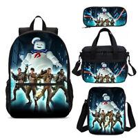 Ghostbusters Print Kids School Backpack Insulated Lunchbox Sling Bag Pen Bag Lot