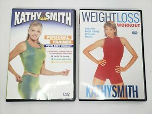 Lot of 2 Kathy Smith Weight Loss Workout & Personal Trainer Total Body DVD's