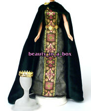 Princess Celtic Dress Cloak Crown Shoes Fashion for Barbie Doll