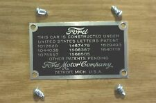 MODEL A FORD 1928,1929,1930,1931, FIREWALL DATA PLATE,