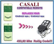 CASALI 252 / CASALI 254 compatibile telecomando / 433,92Mhz Rolling code