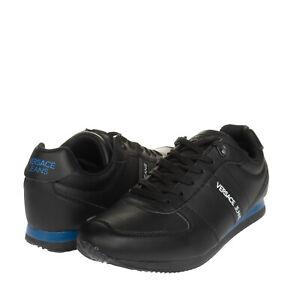 RRP €170 VERSACE JEANS Sneakers EU 42 UK 8 US 9 Logo Padded Topline Thick Sole