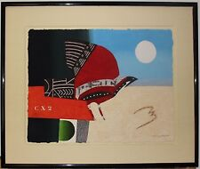 Listed French Artist Max Papart, Lithograph 'L'oiseau'