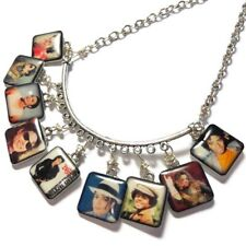 Handmade Michael Jackson Memorial Necklace Silver Plated 22 Inch Chain Clasp
