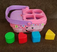 Fisher Price Picnic Shape Sorter Basket Activity Toy Girls Baby Toy musical ABC