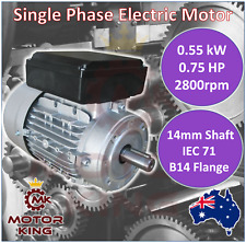 0.55kw 0.75HP Single-Phase 2800rpm Electric Motor REVERSIBLE 240v B14 Mount CSCR
