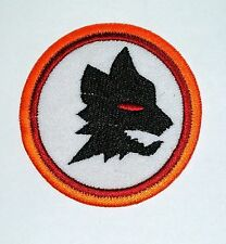 Wolf Head Black iron-on Wild Animal Embroidered Patch / Logo Foxhound